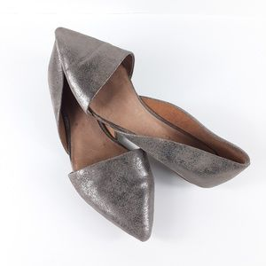 Madewell Lydia Metallic D'orsay Flats Size 7